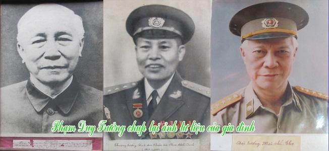 Ba anh em ruột họ Phan: Lê Đức Thọ, Đinh Đức Thiện và Mai Chí Thọ tức Phan Đình Khải, Phạn Đình Dinh và Phan Đình Đống