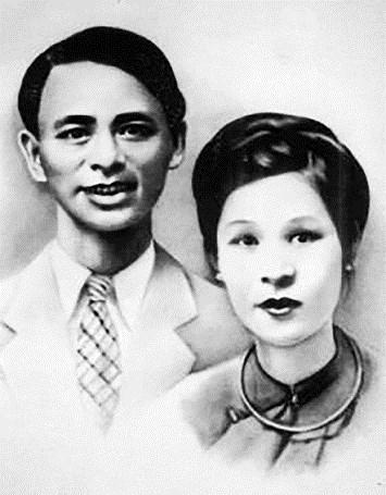 Ông Nguyễn Lân và bà Nguyễn Thị Tề, vợ ông