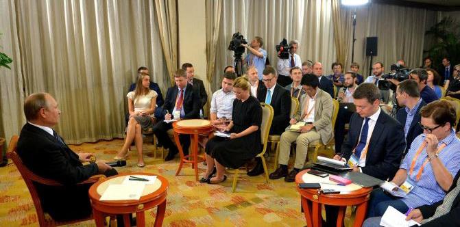 Putin trả lời tại cuộc họp báo